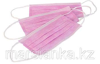 Маска розовая, пачка 50шт