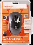 Defender 52155 Dacota MS-155 Беспроводная IR-лазерная мышь Nano B (Черный) 2кн+кл, 1000/1500/2000 dpi, фото 3