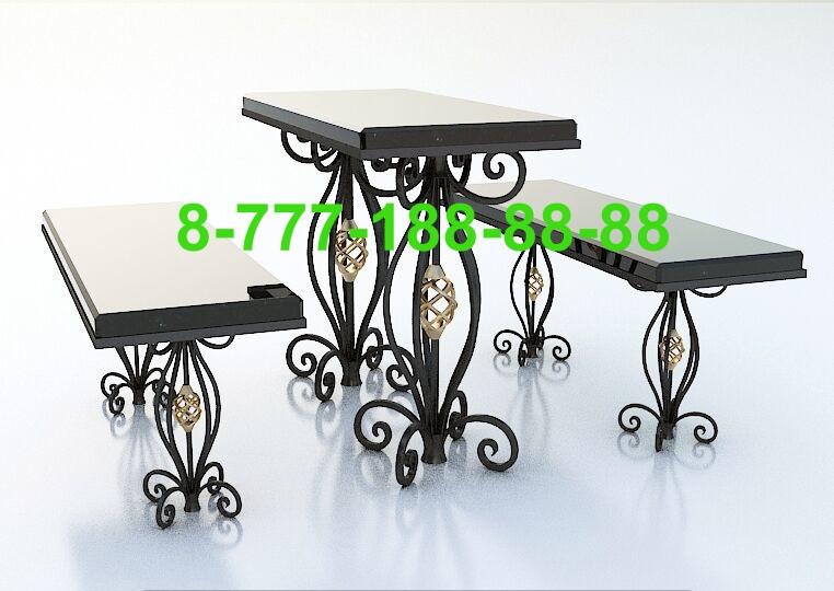 Столы и скамейки на кладбище №13