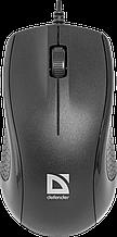 Defender 52160 Optimum MB-160 Проводная оптическая мышь USB, черный,3 кнопки,1000 dpi