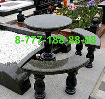 Столы и скамейки из гранита №1