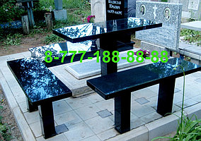 Столы и скамейки из гранита №4