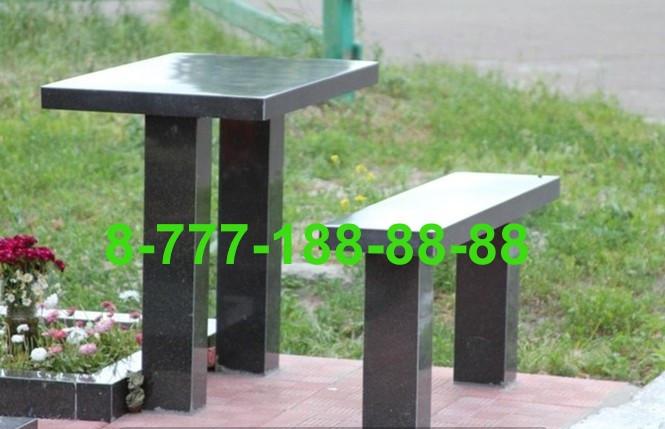 Столы и скамейки из гранита №6