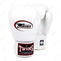 Боксерские перчатки Twins кожа (белый), фото 1