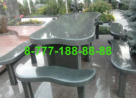 Столы и скамейки из гранита №12