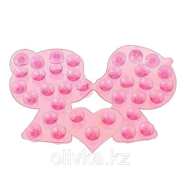 Мини-коврик для ванны «Поцелуй», 8×12 см, цвет МИКС