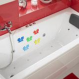 Мини-коврик для ванны «Поцелуй», 8×12 см, цвет МИКС, фото 2
