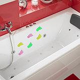 Мини-коврик для ванны «Нога», 11×12 см, цвет МИКС, фото 2