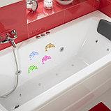 Мини-коврик для ванны «Дельфин», 11×16 см, цвет МИКС, фото 2