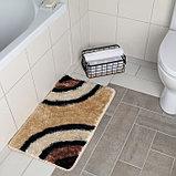 Коврик «Круги на воде», 45×75 см, цвет коричневый, фото 2