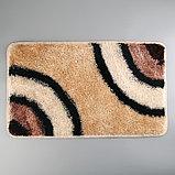Коврик «Круги на воде», 45×75 см, цвет коричневый, фото 3
