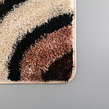Коврик «Круги на воде», 45×75 см, цвет коричневый, фото 4
