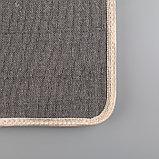 Коврик «Круги на воде», 45×75 см, цвет коричневый, фото 5