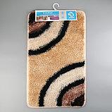 Коврик «Круги на воде», 45×75 см, цвет коричневый, фото 6