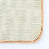 Набор ковриков для ванны и туалета «Камни», объёмные, 2 шт: 40×50, 50×80 см, цвет бежевый, фото 4