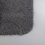 Набор ковриков для ванны и туалета «Курьёз», 2 шт: 40×50, 50×80 см, цвет серый, фото 3