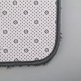 Набор ковриков для ванны и туалета «Курьёз», 2 шт: 40×50, 50×80 см, цвет серый, фото 4