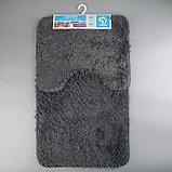 Набор ковриков для ванны и туалета «Курьёз», 2 шт: 40×50, 50×80 см, цвет серый, фото 5