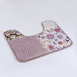 "Набор ковриков для ванны и туалета 2 шт 40х50, 50х80 см ""Коллаж"" цвет серо-розовый, фото 4"