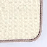 "Набор ковриков для ванны и туалета 2 шт 40х50, 50х80 см ""Коллаж"" цвет серо-розовый, фото 7"