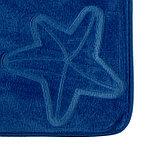 Набор ковриков для ванны и туалета «Ракушки», объёмные, 2 шт: 40×50, 50×80 см, цвет синий, фото 3