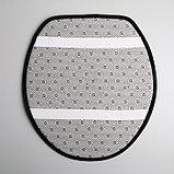 "Набор ковриков для ванны и туалета 3 шт 35х40, 40х50, 50х80 см ""Геометрик"" цвет чёрный, фото 5"