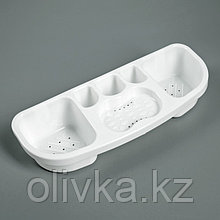 Полка для ванной комнаты, 38,5×14,5×7 см, цвет белый