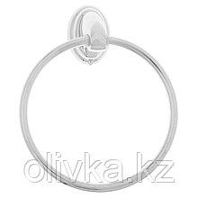 Держатель для полотенец одинарный, кольцо Accoona A11108, цвет хром