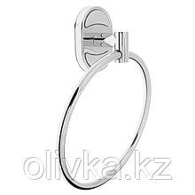 Держатель для полотенец одинарный, кольцо Accoona A11208, цвет хром