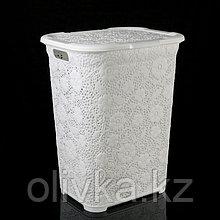 Корзина для белья с крышкой DDSTYLE «Ажурная», 50 л, 35×43×56 см, цвет МИКС