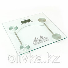 Весы напольные LuazON LVE-003, электронные, до 180 кг, (1 х CR2032), белые