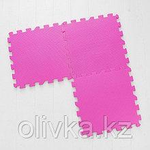 Коврик-пазл, розовый, 10 шт. в наборе, толщина: 1 см