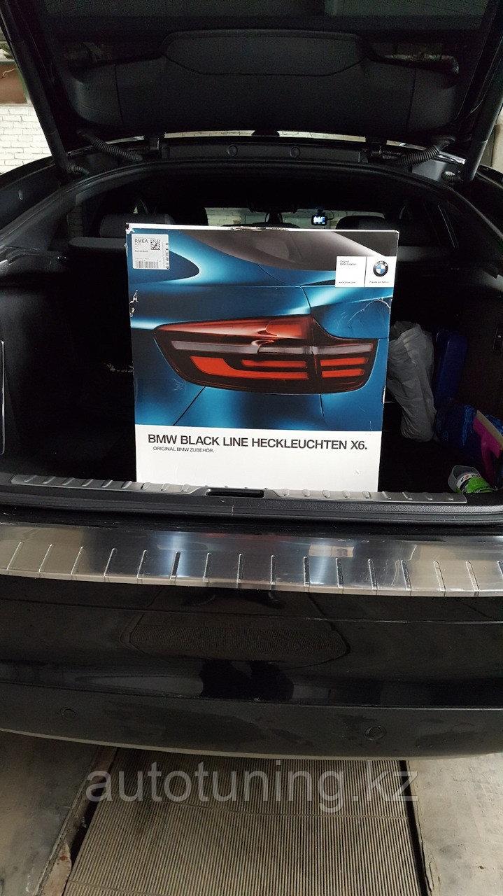 Оригинальные фонари Black Line на BMW X6 E71