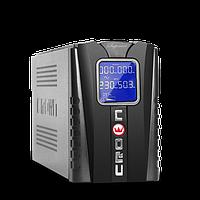 UPS 650U LCD Crown +стабилизатор/МП контроль напряжения/защита от перезар.