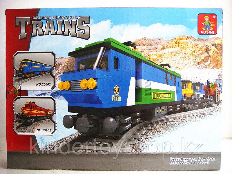 Конструктор аналог лего LEGO City Ausini 25808 серия Поезд (573 детали) Грузовой Локомотив