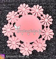Подставка под горячее. Материал: Резина. Цвет: Розовый.