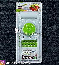 Терка со сменными лезвиями-кассетами. Материал: Пластик. Цвет: Белый/Зеленый.