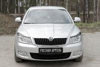 Накладки на передние фары (реснички) Skoda Octavia 2008-2013, фото 2