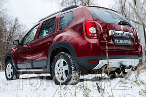 Накладка заднего бампера (аэродинамический обвес) (2 мм.) Renault Duster 2010-