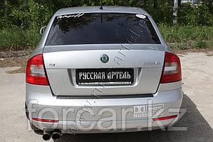 Накладка на задний бампер Skoda Octavia 2008-2013