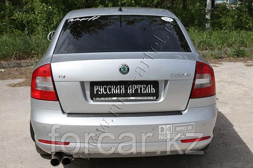 Накладка на задний бампер Skoda Octavia 2008-2013, фото 2