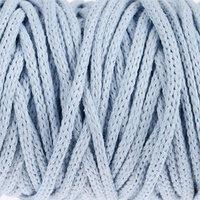 Шнур для рукоделия хлопковый 'Софтино' 100 хлопок 4 мм, 50м/140гр (голубой)