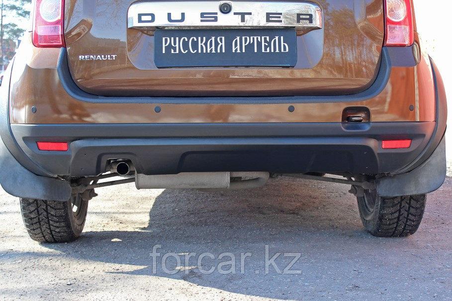 Накладка заднего бампера (аэродинамический обвес) (4 мм.) Renault Duster 2010-