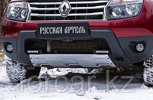 Накладка переднего бампера (аэродинамический обвес) (2 мм.) Renault Duster 2010-