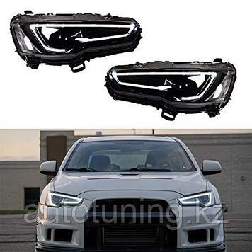 Альтернативная оптика (передние фары тюнинг ) на Митсубиши Лансер 10 ( Mitsubishi Lancer X)