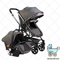 Детская коляска Барс 3 в 1 серый