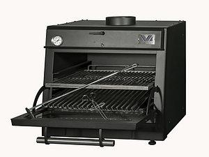 Печь на древесном топливе Vortmax CHO 30 LUX Black