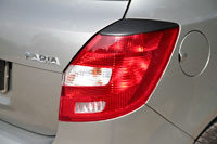 Накладки на задние фонари (Реснички) Skoda Fabia II 2010-2013, фото 2