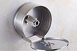 Диспенсер антивандальный для туалетной бумаги Джамбо (Jumbo) металлический серый держатель, фото 5