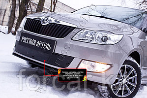 Зимняя заглушка решетки переднего бампера Skoda Fabia II 2010-2013